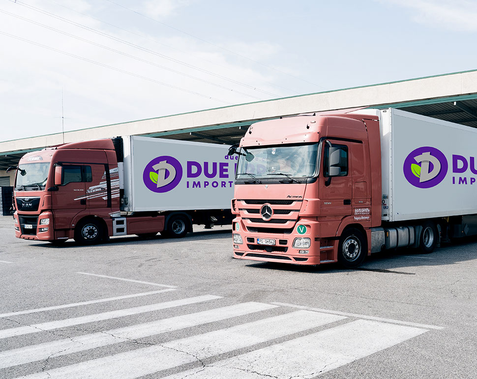 Logistica e trasporto frutta e verdura all'ingrosso, Due Erre